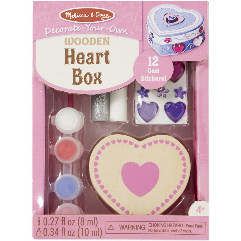 Decorate-Your-Own Wooden Chest-Heart