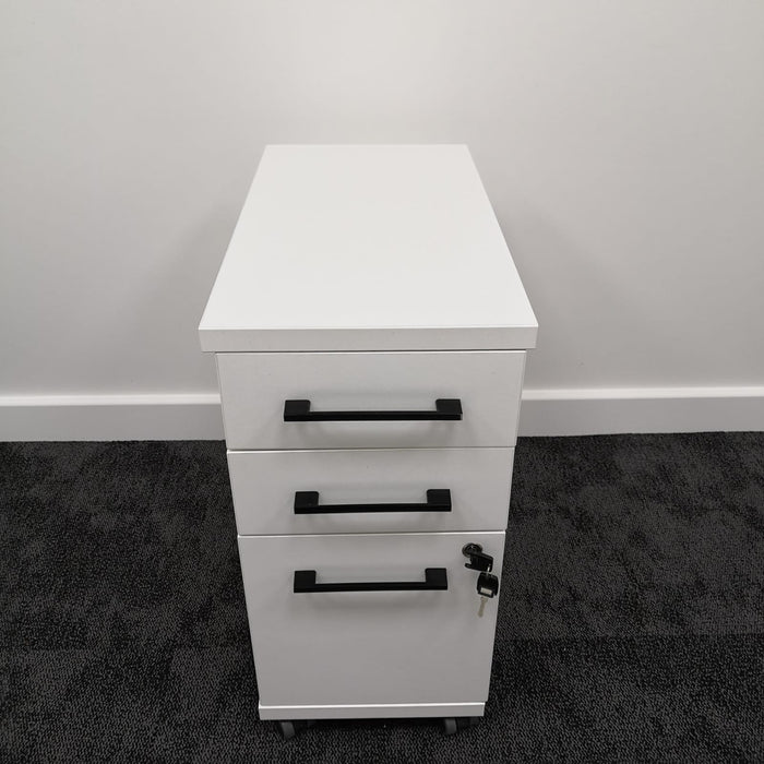 Narrow 3 Drawer Mobile Pedestal