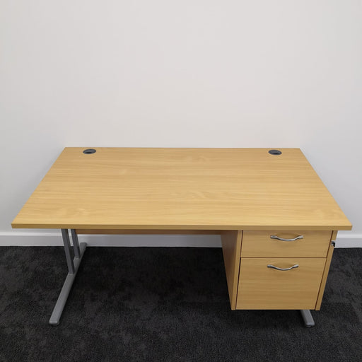 1400mm Rectangular Desk With 2 Desk Drawers