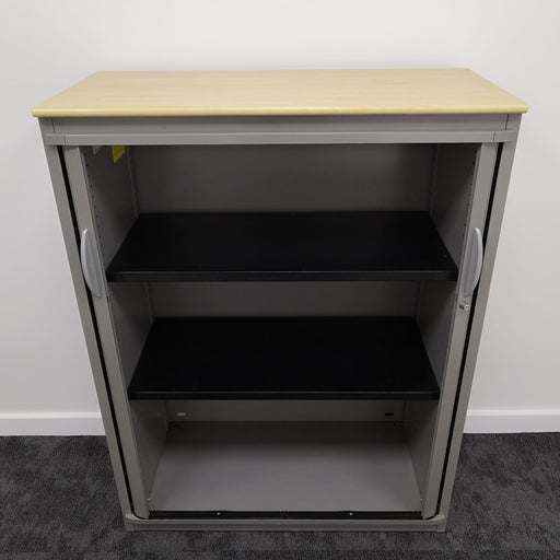 Used 1320mm Grey & Maple Tambour Unit