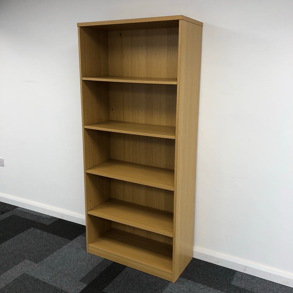 1800mm Oak Bookcase