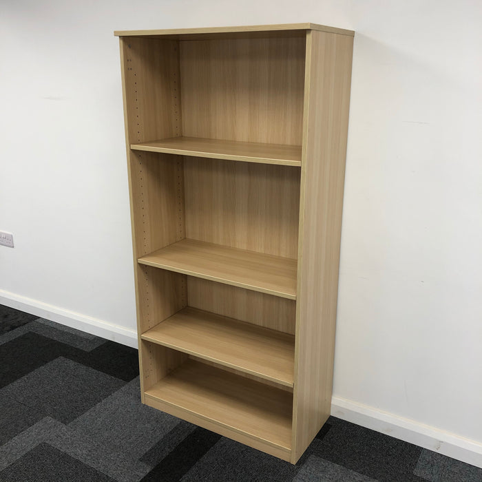 1640mm Light Oak Bookcase
