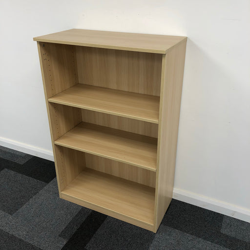 1225mm Light Oak Bookcase