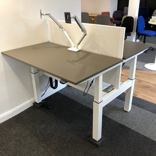 Ex-Display Electric Height Adjustable Double Bench Desk