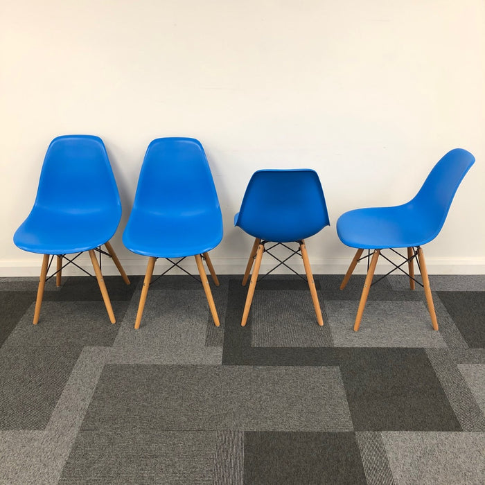 4x Moulded Visitor Chairs