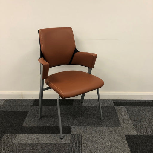 Tan Leather Side/Visitor Chair
