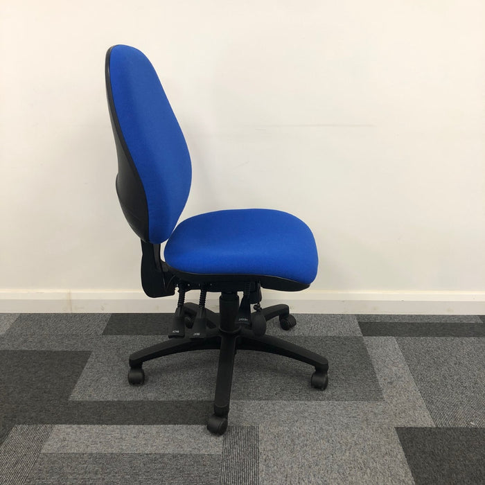 Reupholstered Large Ergonomic High Back Operator Chair