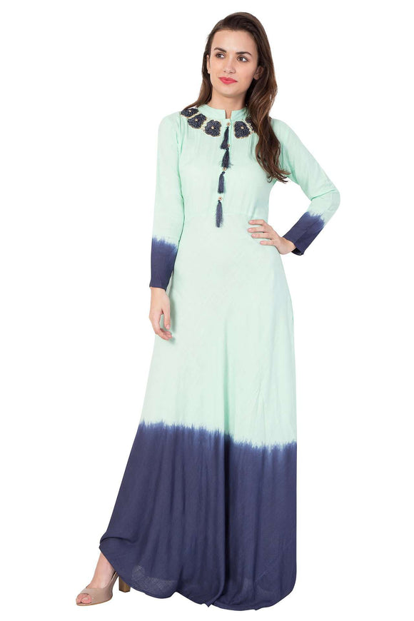 FIT & FLARE LONG STYLISH DRESS