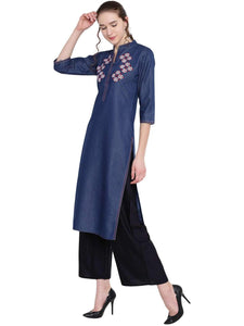 DENIM STRAIGHT KURTI