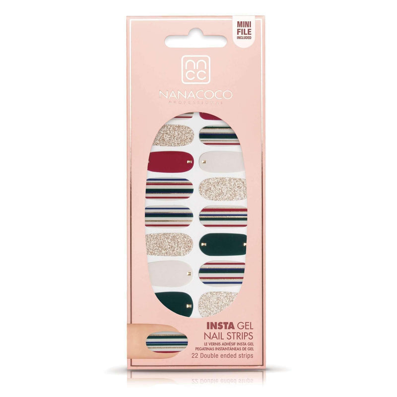 NANACOCO Insta Gel Nail Strips 22 strips Gloss (Cocktail Party)