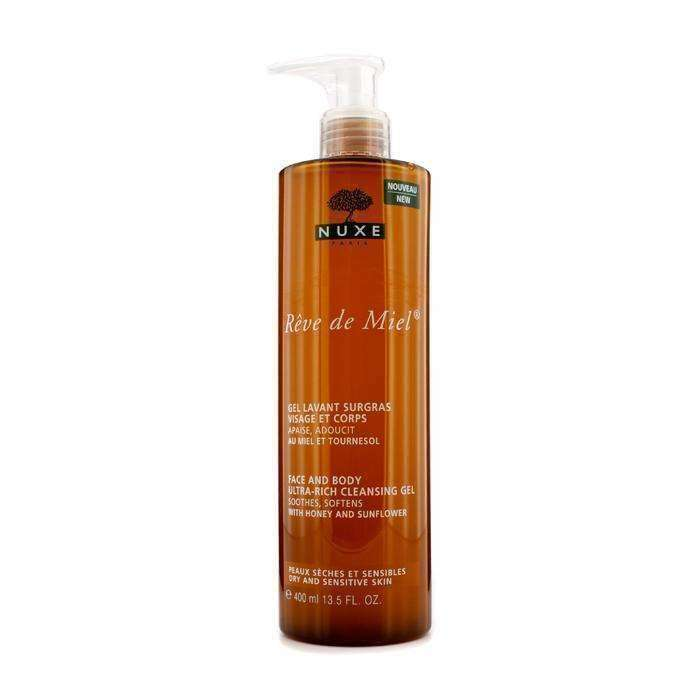 NUXE Reve de Miel Rich Cleansing Gel Face and Body 400ml