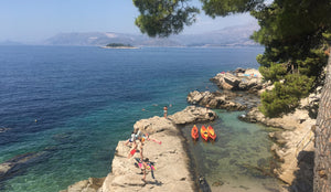 Beaches in and around Cavtat in Croatia