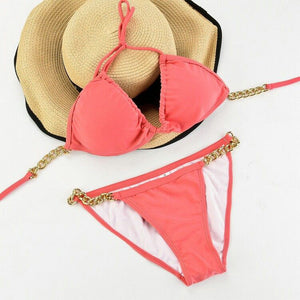 La Sagesse Pink Two Piece Bikini