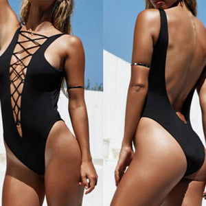 Bathsheba Bay One Piece Black Swimsuit