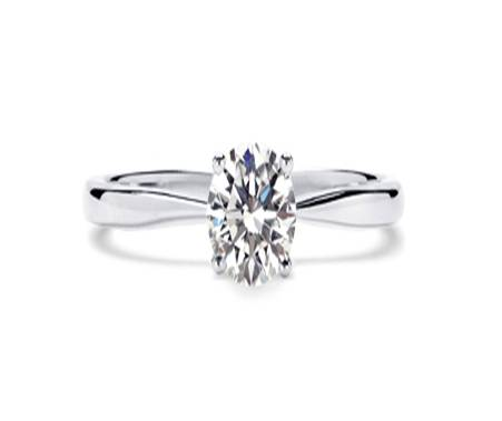 1. Gold Four Claw Solitaire Diamond Ring