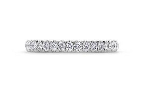 11. Diamond Solitaire and White Gold  Eternity Band Ring
