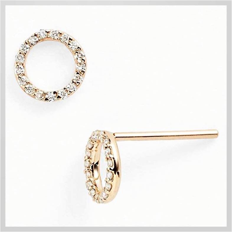 20. Gold Moon Diamond Earrings