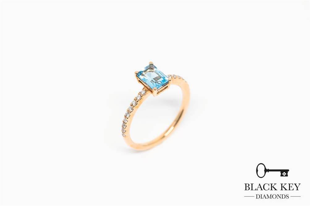 24. BKD Sky Blue Topaz Diamond Ring