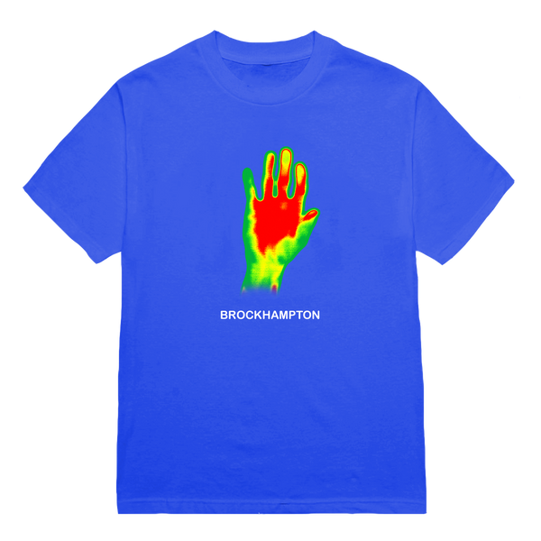 'kevin' handprint tee (blue) + digital album bundle
