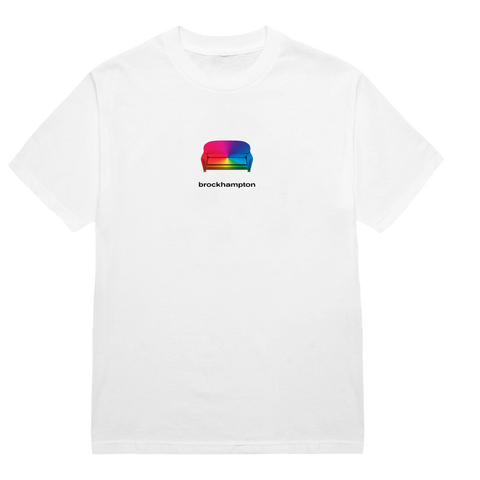 'iridescence couch' tee (white)