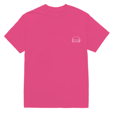 'couch basic' tee (hot pink)