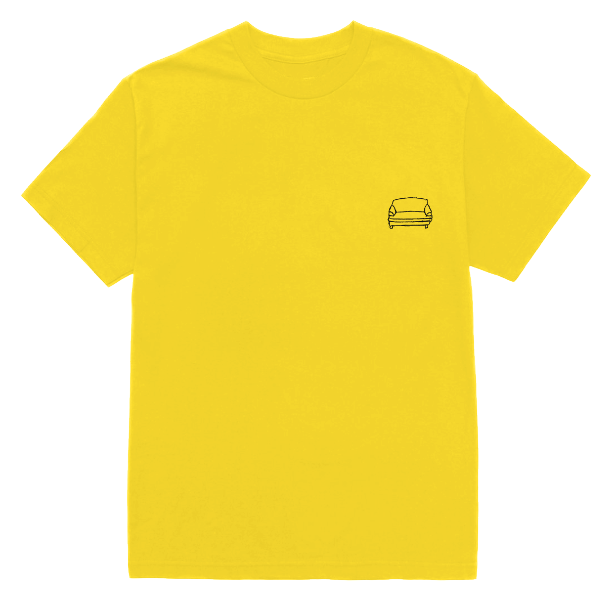 'couch basic' tee (yellow)