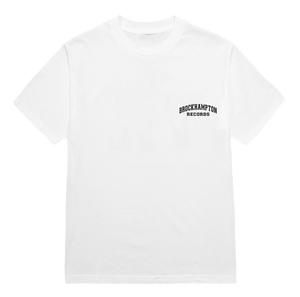 'bh records block' tee (white)
