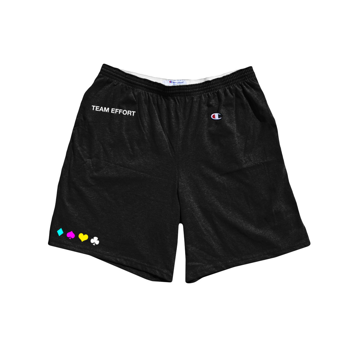 'team effort' shorts (black)