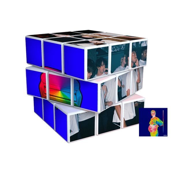 'iridescence' rubiks cube + digital album bundle
