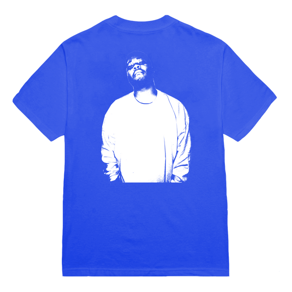 'dom' handprint tee (blue) + digital album bundle