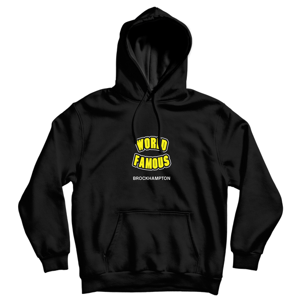 'world famous' matt hoodie (black)