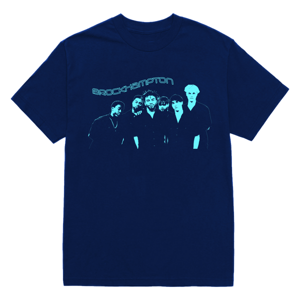 'the number one boyband in show business' brockhampton tee (navy) + digital album bundle