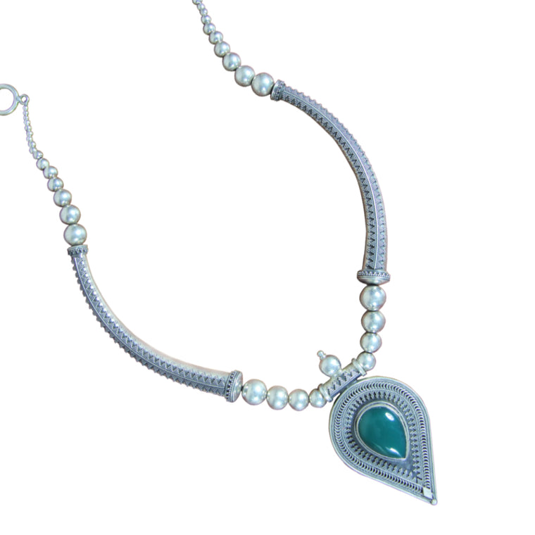 SILVER NECKLACE - SNP 358