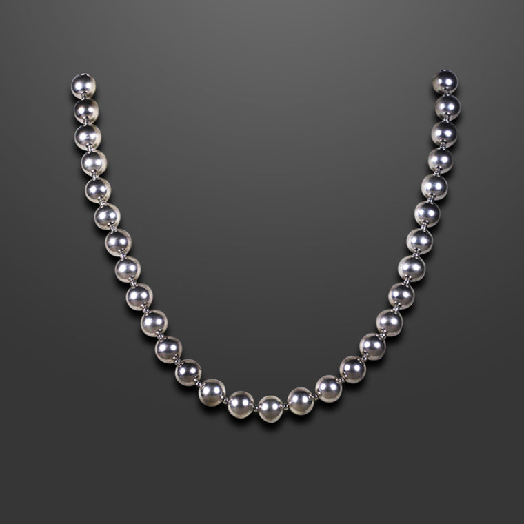 SILVER BALL NECKLACE - SSN 30