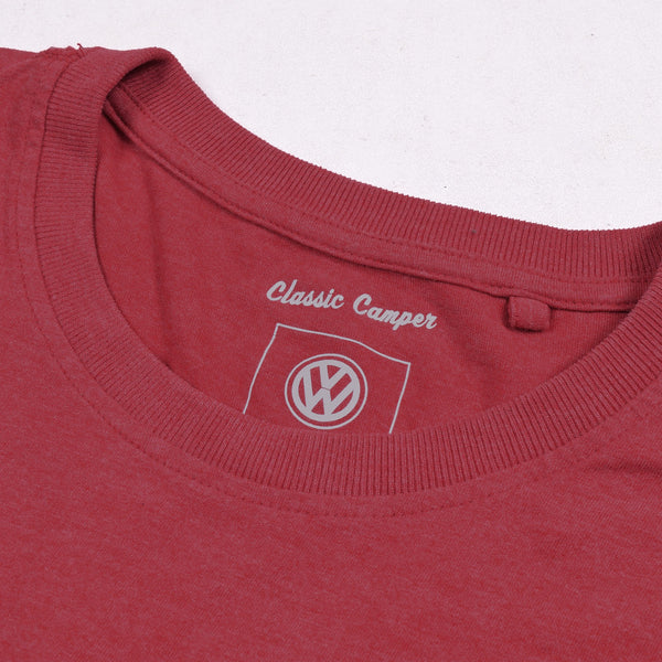 B Quality Classic Camper Crew Neck T Shirt For Men-Light Red-NA831