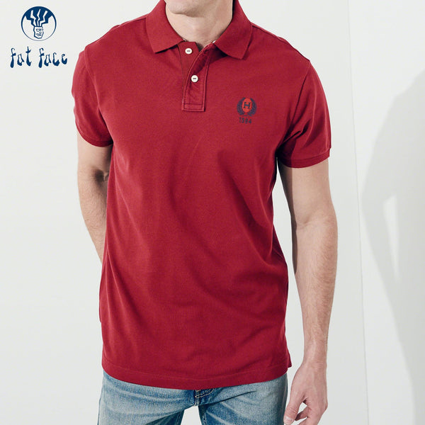 B Quality Fat Face P.Q Polo Shirt For Men-Red-BE4468