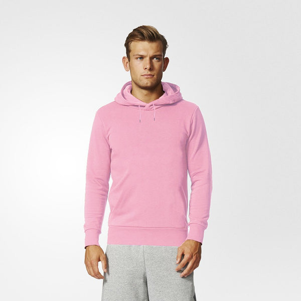 B Quality F&F Pullover Fleece Hoodie For Men-Light Pink-BE3717