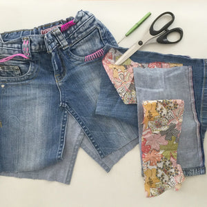 up-cycled denim skirt | tutorial