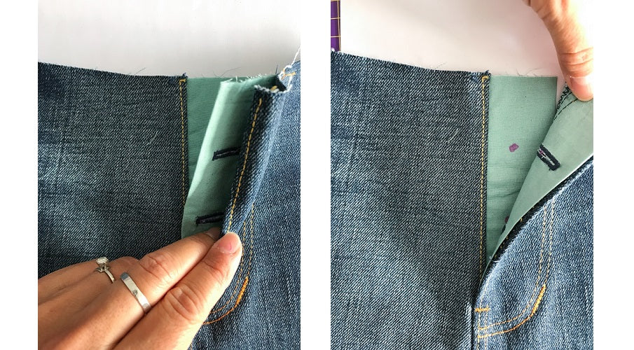 halfmoon 101 JEANS | sew along button fly