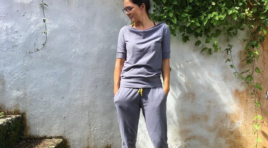 blog post on halfmoon ATELIER | Hudson Joggers + boat neck ANEGADA = love!