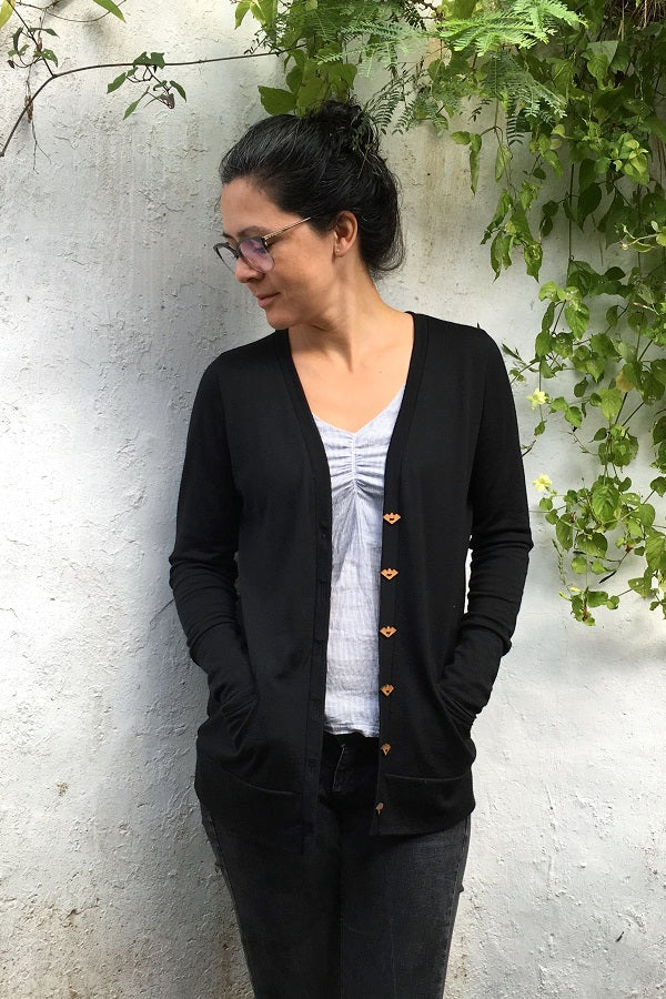Phinney Ridge Cardi | Straight Stitch Designs | The Fabric Store merino