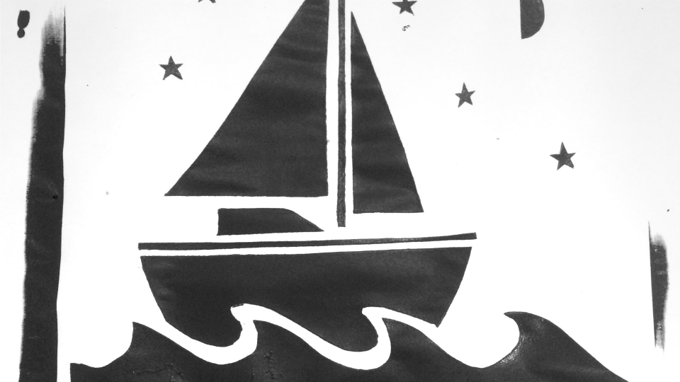 sailboat screenprint
