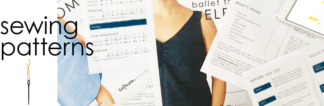 halfmoon ATELIER | PDF sewing patterns
