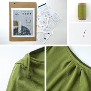oat neck ANEGADA | Organic Cotton Plus | Pique kit | organic cotton | sustainable sewing