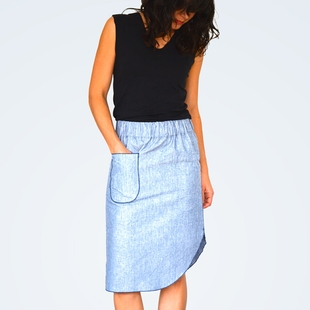 pdf sewing pattern modern pencil midi skirt ROMA