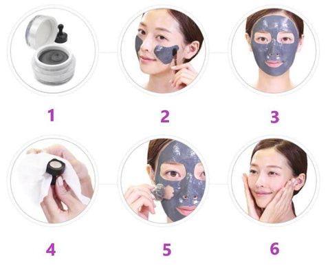 hydrating magnetic mask against blackheads