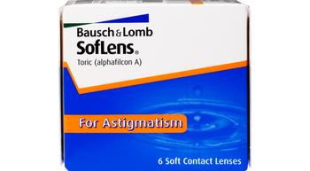 SofLens Toric For Astigmatism (6 Lenses Per Box)