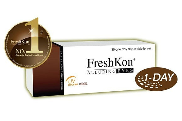 FreshKon Alluring Eyes 1 Day Colors (30 Lenses Per Box)