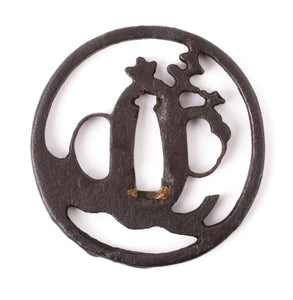 Iron Paulownia Sukashi Tsuba With NBTHK Hozon - Hoan School