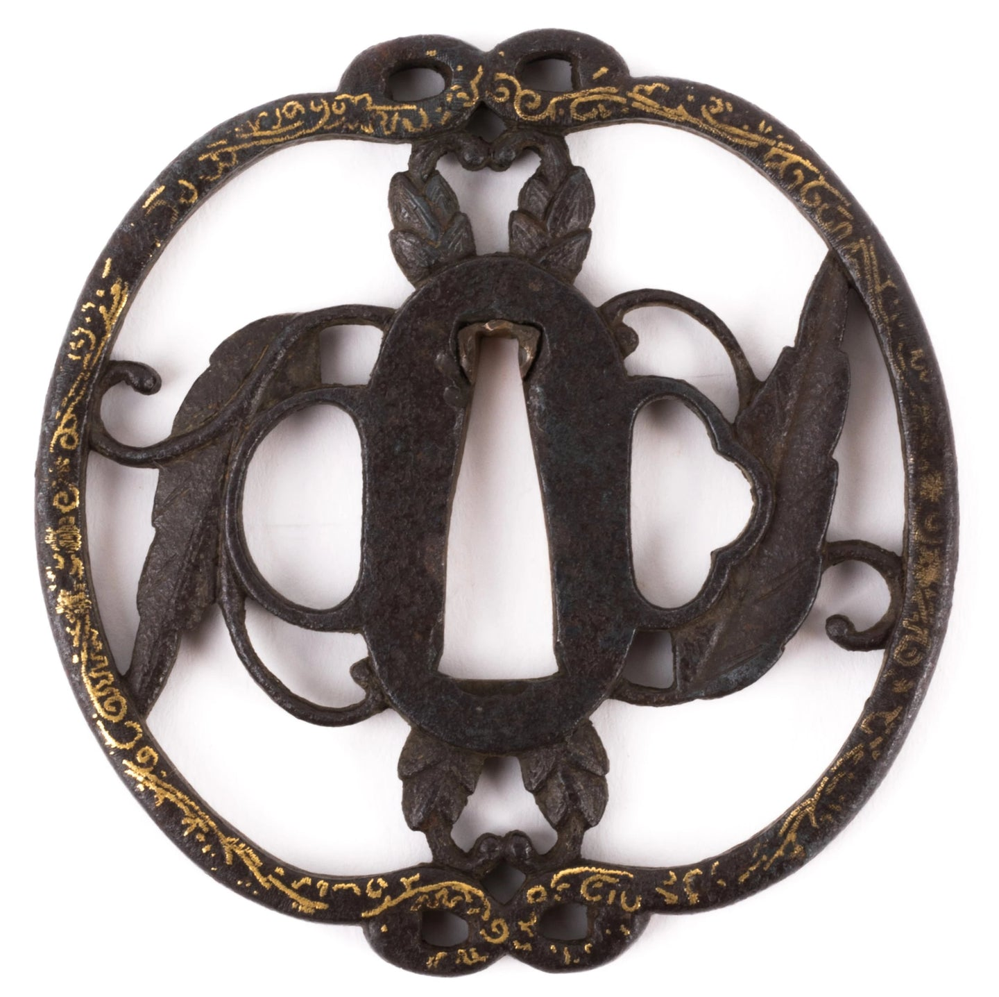 Early Edo Kyo-Shoami Iron Tsuba